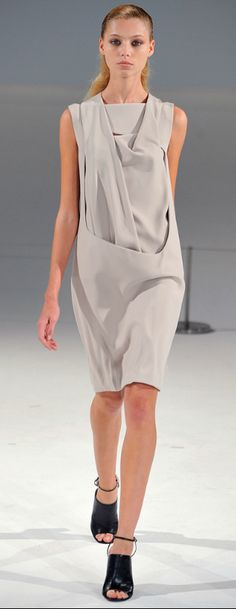 i like the form of this dress and the simplicity and the fabric manipulation