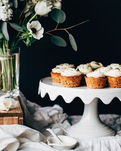 Spiced Parsnip Cupcakes with Cream Cheese Frosting