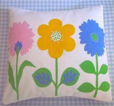 Pomme de Jour Vintage Fabric Cushion Cover 3 1970s by Pommedejour, $24.00