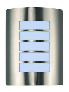 """Maxim 54321 1 Light 10.75"""" Tall Outdoor Wall Sconce from the View EE Collection Stainless Steel / White Glass Outdoor Lighting Wall Sconces Outdoor"""