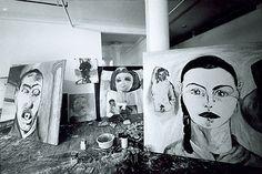 Francesco Clemente's Broadway studio in the 1980s