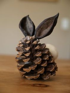 Pinecone bunny: craft project