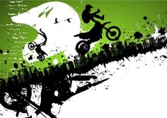 Motocross Freestyle Abstract Background : Custom Wall Decals, Wall Decal Art, and Wall Decal Murals | WallMonkeys.com