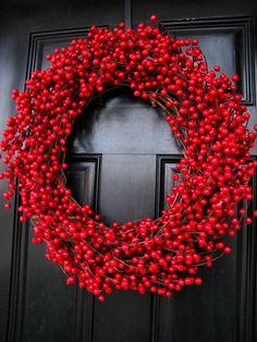 Cranberry wreath #wreaths