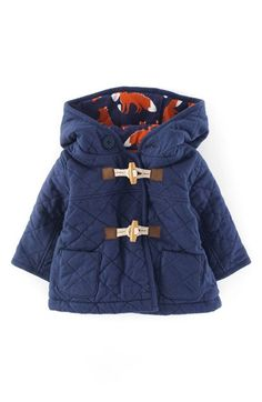 Mini Boden 'Cosy' Quilted Duffle Jacket (Baby Boys) available at #Nordstrom
