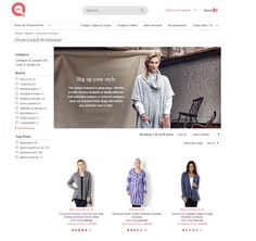 Online fashion landing page header Big up your style Oversized knitwear