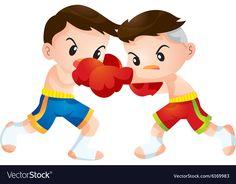 Muaythai vector image on VectorStock Free Vector Images, Vector Free, Little Boys, Adobe Illustrator, Alice In Wonderland, Pikachu, Taekwondo, Disney Characters, Boxing