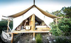 Safari Tent Camping in California | Glamping in California | A single cabin on a private ranch near Warner Springs, CA