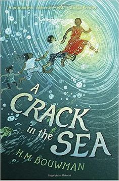 A CRACK IN THE SEA by H. M. Bouwman with art by Yuko Shimizu is the story of three families, two worlds and one magical portal. Pip, who can talk to fish, and Kinchen have grown up in the second world on an island surrounded by water. When Pip is kidnapped by the king of the Raft World, Kinchen is sent on a journey that leads her to new friends, surprising discoveries, including a kraken, and breathtaking escapes from danger at the hands of others. A stunning, unforgettable book with…