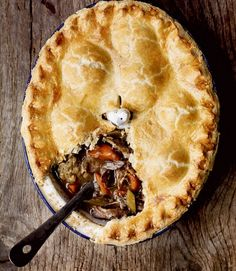 Pheasant pie with stuffing balls