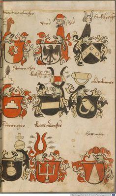 Wappen besonders von deutschen Geschlechtern Süddeutschland ?, 1475 - 1560 Cod.icon. 309  Folio 27r