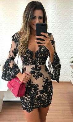 Outstanding Evening Gowns for Ladies Best Prom Dresses, Homecoming Dresses, Sexy Dresses, Beautiful Dresses, Dress Outfits, Short Dresses, Fashion Dresses, Dresses With Sleeves, Lace Dress