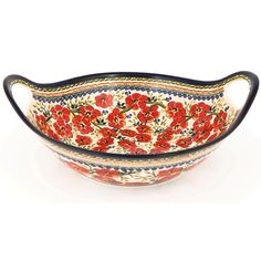Polish Stoneware Pottery 13.5-inch Handled Serving Bowl - Overstock™ Shopping - Great Deals on Z.C Boleslwiec Serving Bowls