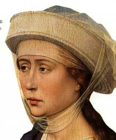 A 16th Century Irish Linen Headdress   Reconstructing History. Hair was worn out for non married women.