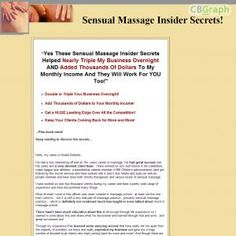 Yes These Sensual Massage Insider Secrets Helped Nearly Triple My Business Overnight And Added Thousands Of Dollars To My Monthly Income And They Will Work For You Too! See more! : http://get-now.natantoday.com/lp.php?target=rnoel