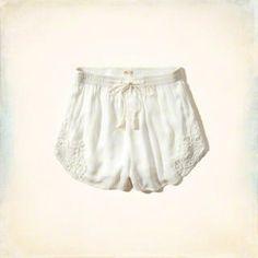 Lace Hem Drapey Shorts