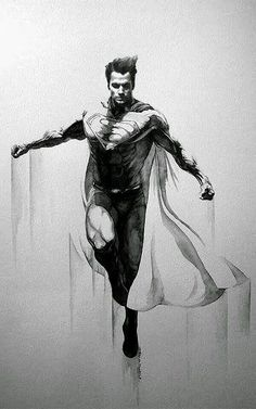 Saved by Dave McCall Discover more of the best Illustration, Painting, Superman, Eric, and Meador inspiration on Designspiration Comic Book Characters, Comic Character, Comic Books Art, Comic Art, Superman Man Of Steel, Batman Vs Superman, Superman Artwork, Superman Stuff, Superman Tattoos