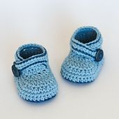 Ravelry: Crochet Baby Booties - Blue Whale pattern by Croby Patterns