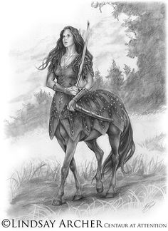 centaur at attention by Lindsay Archer