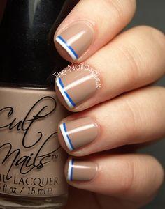 Doily heart tip nails #nailcolour