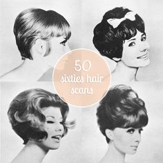 Scathingly Brilliant: Freebie // 50 sixties hair scans