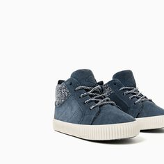 Image 6 of LEATHER HIGH-TOP SNEAKERS from Zara