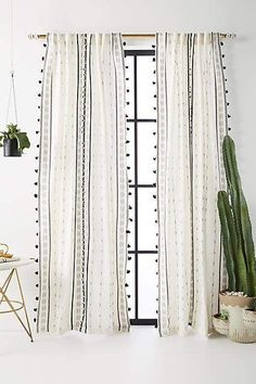 Pretty & soft, for any room of the house //#anthropologie Araya Curtain #tassels #ad