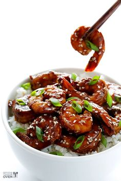Easy Hoisin Shrimp is an easy and delicious seafood dinner option for any night! Shrimp Dishes, Fish Dishes, Shrimp Recipes, Asian Recipes, Healthy Recipes, Ethnic Recipes, Dessert Halloween, Fish And Seafood, Sushi