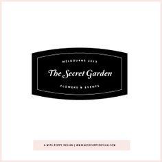 SECRET GARDEN PRE DESIGNED LOGO www.misspoppydesign.com Miss Poppy Design