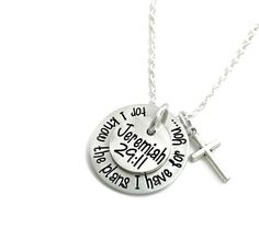 For I Know The Plans I Have For You Necklace - Danielle Joy Designs