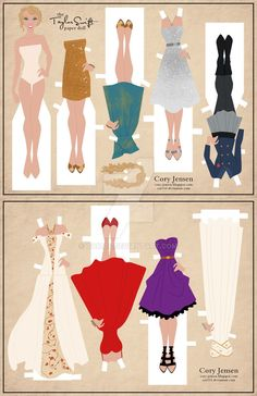 I can't stop making paper dolls...I think something may be wrong with me! haha I Taylor Swift so much! She always looks so beautiful and she is an amazing songwriter! I understand that SOME people ...