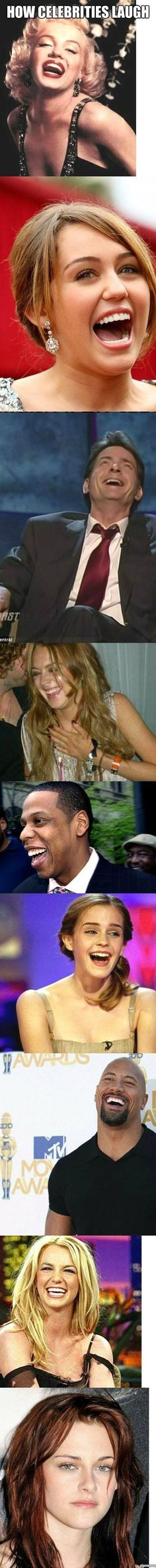 Funny pictures about How famous celebrities laugh. Oh, and cool pics about How famous celebrities laugh. Also, How famous celebrities laugh. Famous Celebrities, Celebs, Haha Funny, Funny Cute, Funny Memes, Funny Stuff, Funny Videos, Funny Pins, Funny Photos