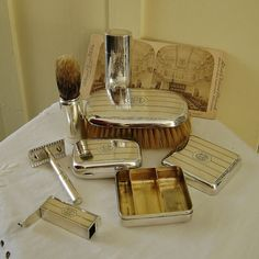 Antique Sterling Silver Mens Travel Grooming by SilverFoxAntiques, $600.00