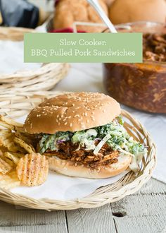 Slow Cooker Recipe: BBQ Pulled Pork Sandwiches