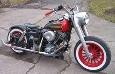 1980 Harley Davidson FLH Shovelhead Straight Bobber Motorcycle named the Rat Bob by Doug.