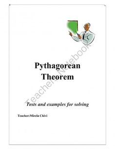Pythagorean Theorem from Mirela.C on TeachersNotebook.com -  (9 pages)  - Math worksheets