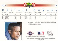 1992 Classic Best #371 Derrell Rumsey Back