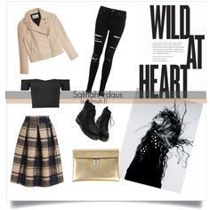 WILD AT HEART by salmahfirdaus on Polyvore featuring polyvore, fashion, style, T By Alexander Wang, Miss Selfridge, Golden Goose and Magdalena
