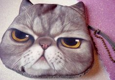 Angry Cat Super Soft Purse by MichiMichiRainbow