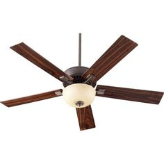 Rothman Two-Light Oiled Bronze 52-Inch Ceiling Fan