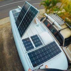 Solar panel system on van #solarpanels,solarenergy,solarpower,solargenerator,solarpanelkits,solarwaterheater,solarshingles,solarcell,solarpowersystem,solarpanelinstallation,solarsolutions