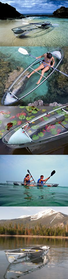 Clear canoes — how cool is that?