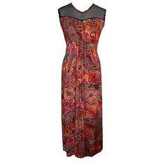 8883fca21f8 EMILY @ SIMPLY BE RED/ORANGE/MULTI PAISLEY MAXI DRESS - PLUS SIZES 20