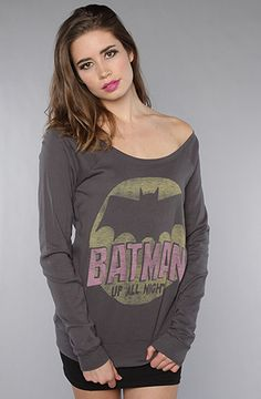 The Batman Up All Night Off Shoulder Raglan : Junkfood Clothing :