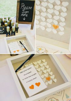 What a cute guestbook idea! Never even seen this. Could read on plane, and hang in home!