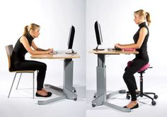 "Ergonomic Chair from ""Creating the Perfect Home Office: Finding the Right Chair"" Ergonomic Kneeling Chair, Ergonomic Chair, Home Office Space, Home Office Design, Standing Chair, Standing Desks, Stool Chart, Saddle Chair, Office Chair Without Wheels"