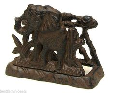 Cast Iron Elephant Letter Napkin Holder Delta Sigma Theta Sorority Perfect Gift