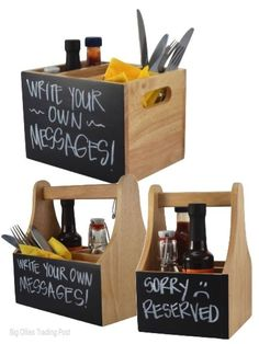 Rustic Cutlery Caddy Holder Condiment Holder Reclaimed Wood - Table top caddies for restaurants