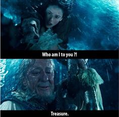 Pirates of the Caribbean:Dead men tell no Tales This is the most beautiful scene in movie!! I'm so sad 'cause Barbossa died.