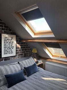 Why I love roof blinds and choosing the correct colour with Blinds Direct. - Kerry Lockwood - In Detail Velux roof blinds blinds direct Attic Bedroom Small, Attic Bedroom Designs, Attic Bedrooms, Basement Bedrooms, Boy Bedrooms, Teenage Attic Bedroom, Attic Master Bedroom, Bedroom Loft, Bedroom Decor